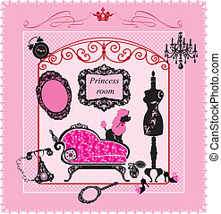 Princess Room - illustration for girls