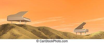 鋼琴, 沙漠