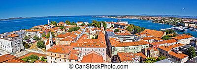 Town of Zadar panoramic view - Town of Zadar peninsula...