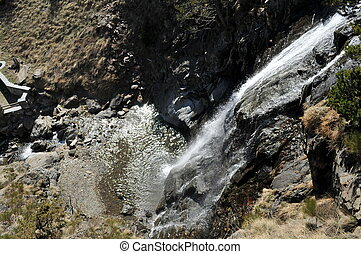 waterfall in Andorra la Vella - is the cascade of Andorra la...