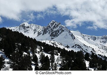 snowy mountains of Andorra la Vella