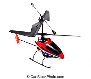 RC Helicopter - A rc helicopter isolated on white background