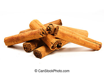 cinnamon stick on a white background