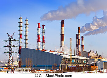 Old and new unit of combined heat and power plant