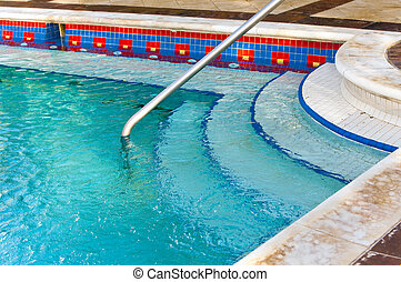Input to the small pool jacuzzi