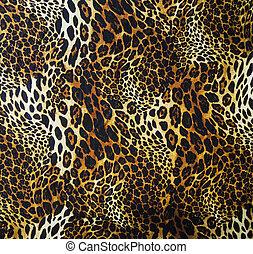 Leopardo, piel, seamless, Plano de fondo