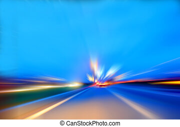 speed motion car on highway