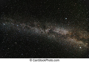 Milky Way Galaxy in open space