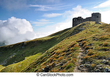 Old military base in Carpathian mountains - Old military...
