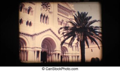 Vintage 8mm. Church in Monaco