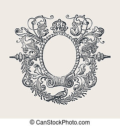 Decorative Frame - Beautiful decorative floral frame, art...