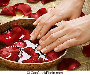 Spa Procedures for Hands Luxury Manicure concept