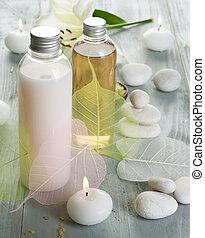 natural, balneario, cosméticos