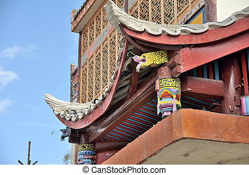 Eaves - Picture of Eaves with Tibetan style.
