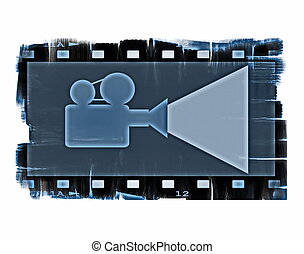 film strip frame and movie projecto