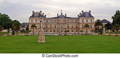 Famous places of Paris - Jardin du Luxembourg. France.