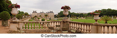 Famous places of Paris - Jardin du Luxembourg. France.