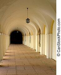 old cloister in St Lipka, Poland