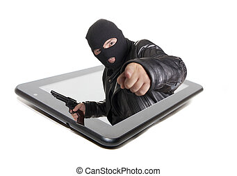 tablet crime - the thief that acts via internet, committing...