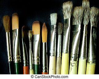 Artistic brushes - These are some artistic brushes on a...