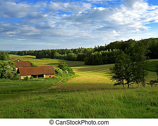 rural buildings - Old rural buildings in Mazury, Poland