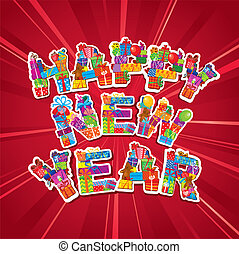 Abstract Happy New Year card