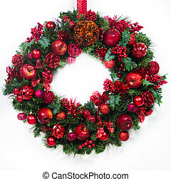 Festive Red and Green Wreath