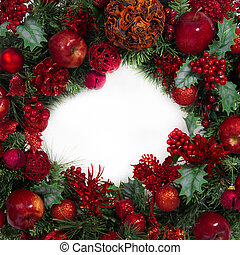 Christmas Red and Green Wreath