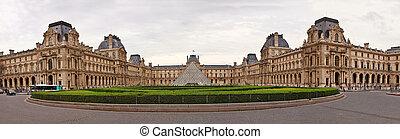 Louvre museum - famous museum of Paris city - Louvre museum...