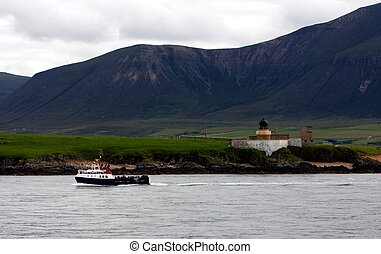 Graemsay Ferry - The Graemsay Ferry Arriving at Stromness,...