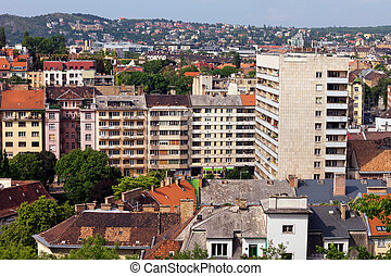 Budapest Residential District - Buda side of Budapest...