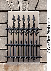 Wrought Iron Window Grille - Wrought iron blind window...
