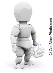 Person with shopping basket