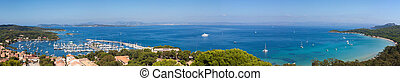 Panoramic view of Porquerolles island in France - Panoramic...