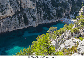 Aerial view of the Calanque of En vau - Aerial view of the...