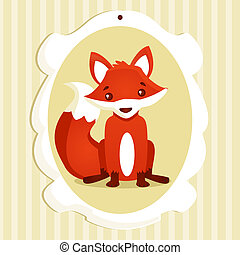Background with fox