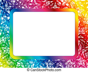 Abstract Star Spectrum Frame