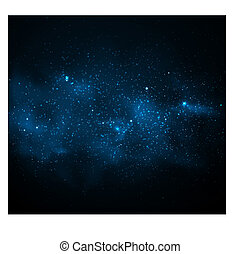 Milky Way - Background with Milky Way. Eps 10