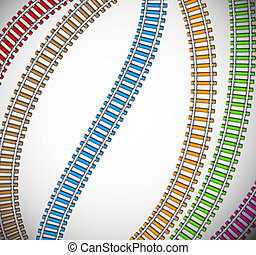 Background with colorful rails Eps 10