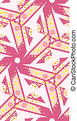 Pink Kaleidescope Pattern - Seamless background of bubbly...