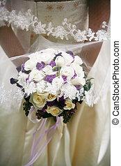 Bridal Bouquet - Bride\\\'s hands holding a bouquet