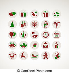Set of New Year and Christmas icons - Set of icons for New...
