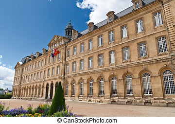 Caen Town Hall with French Flag