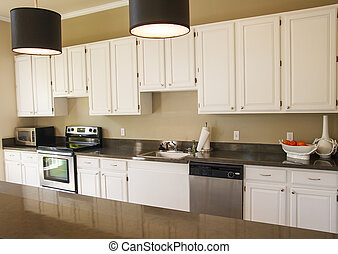 Nice Kitchen with White Cabinets