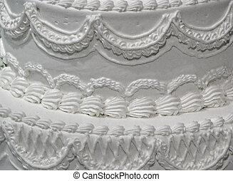 wedding cake - creamy white wedding cake with burgundy roses