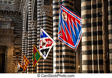 Interrior of the grand duomo in Siena, Italy
