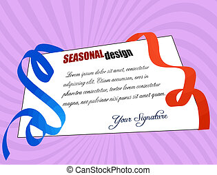 Greeting card for holiday