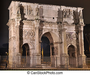 Arco de Constantino at night - Northern face of the Arco de...