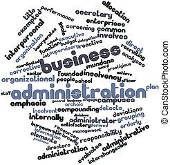 palavra, nuvem, negócio, administração