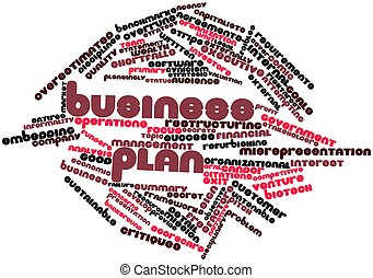 Business plan - Abstract word cloud for Business plan with...